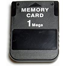 ZedLabz 1MB Memory card for Sony PS1 PSX Playstation One 1 MB - PS2 compatible* - Black