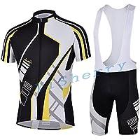 Speciale estate Ciclismo Jersey cinghia manica corta ciclismo all'aperto di camicia Abiti (BMX, L)
