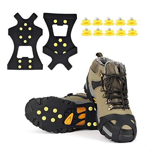 EONPOW Schuh Spikes 1 Paar Schuhspikes Schuhkralle Schuhkrallen EIS Spikes Shoe Spikes Anti Rutsch...