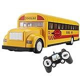 Hugine Autobús Escolar Principal de 2.4G Autobús Amarillo RC con...