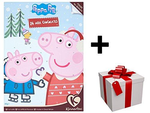 """Nouveau Calendrier de l'avent 2017 """"PEPPA PIG"""" au chocolat au lait PLUS CADEAU SURPRISE"""