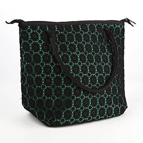 fit-fresh-luxurious-lace-chicago-insulated-lunch-bag-emerald-black-lace-by-fit-fresh