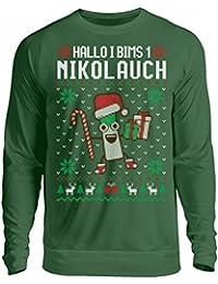 Shirtee Hochwertiger Unisex Pullover - i bims 1 Nikolauch - das passende Geschenk für i bims Fans