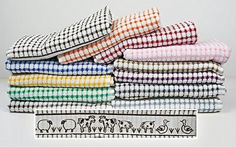 Musbury FabricsTunstead Farm Estate Animal Collection 100% Cotton Terry Tea Towel (each) - Orange