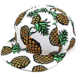 lanspo Deporte Camping Senderismo Cap Piña Cap Gorra Boy tiene ajustable Gorra de béisbol de hip hop sombrero unisex, c