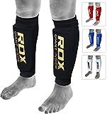 RDX MMA Boxen Schienbeinschutz Kampfsport Kickboxen Schienbein Schienbeinschoner Beinschützer, Schwarz M