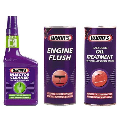 wynns-engine-flush-425ml-super-charge-oil-treatment-425ml-petrol-injector-cleaner-325ml