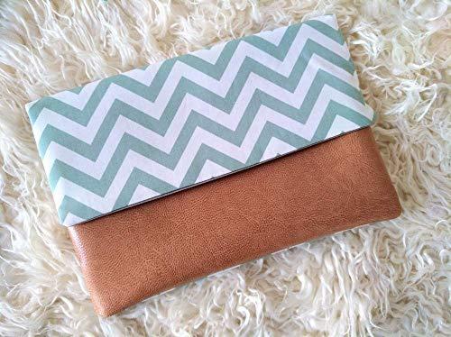 Mutterpass Tasche aus Stoff und Kunstleder