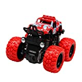 Monster Trucks Cars for Kids Inertia Car Toys for Boys Girls Push and Go Vehicles 4 Wheel Drive Big Tire 360 Degree Rotation Suspension System