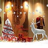 VDROL Autocollant de Noël Vitre Amovible PVC Strickers Sapin Cerf de Noël Statiques pour Décorations de Fenêtre, Mur, Vitrine, Port, etc....