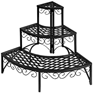 etagere jardin metal pot porte fleurs plantes 60x60x60cm. Black Bedroom Furniture Sets. Home Design Ideas