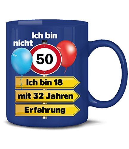 Golebros Ich Bin Nicht 50 ich Bin 18 mit 32 Jahren Erfahrung Tasse Becher Kaffee Runder Geburtstag Geschenk Opa Oma Frauen Männer Idee zum Ihn Sie Artikel (Für Frauen 50 Geschenk-ideen Geburtstag)