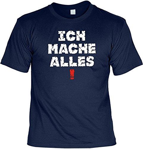 Witziges Spaß-Shirt + gratis Fun-Urkunde: Ich mache Alles! Navyblau