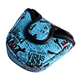 Andux Mallet Putter Cover Golf Putter Head Covers