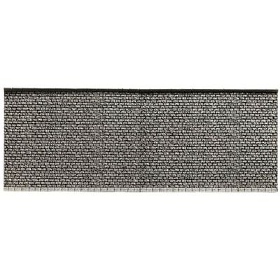 Noch 58055 Wall Extra-Long Gray Brick H0 Scale  Model Kit