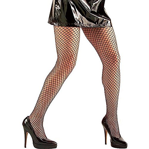 Halloween LADIES SCHWARZ FISHNET TIGHTS ONE SIZE (Kostümzubehör)