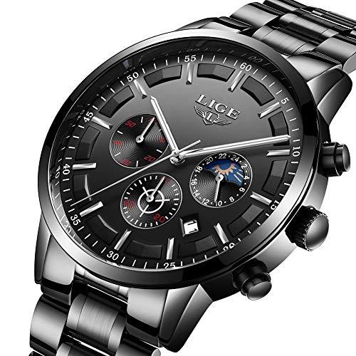 Uhren Lige Herrenuhren Top-marke Luxus Quarz Gold Uhr Männer Casual Leder Militärische Wasserdichte Sport Armbanduhr Relogio Masculino Hochwertige Materialien