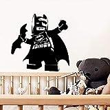 Mur créatif Lego Batman Autocollant Art de bande dessinée Stickers muraux amovibles pour Décoration murale Salle de Nursery Décor