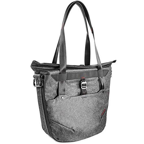 Peak Design Everyday Tote Bag 20L Charcoal Damen-Fototasche für DSLR- und DSLM-Kameras - funktioniert als Handtasche, Schultertasche, Umhängetasche oder Rucksack (dunkelgrau) -