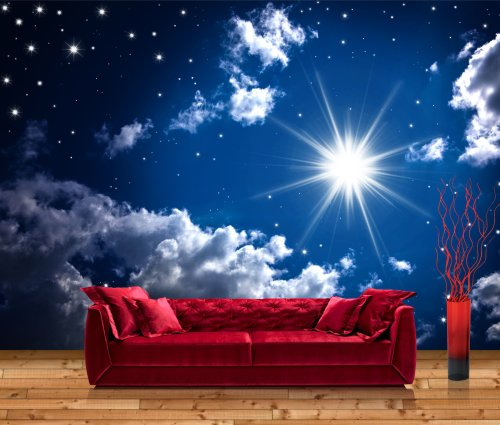 Vliestapete Fototapete Leuchtender Sternenhimmel – Größe: 400 x 280 cm, 8-teilig