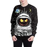Transwen Halloween Frauen Halloween Sweatshirt, Kürbis Grimasse 3D Print Party Hoodie Top Sweatshirt Druckoberteile Pullover Tops T-Shirt (M, Schwarz)