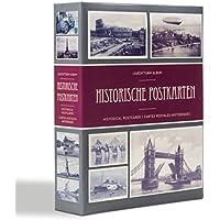 Leuchtturm 348002 Sammel-Album für 200 historische Postkarten, Postkarten-Sammel-Album mit 50 eingebundenen Klarsichthüllen
