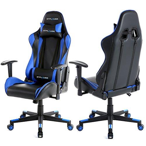 Mit Racing Pc Schreibtischstuhl Gaming Stuhl Computerstuhl Kunstleder Gtplayer Bürodrehstuhl Höhenverstellbarer Design Ergonomisches Chefsessel OXPZiTuk
