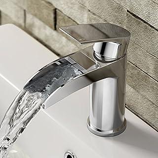 iBathUK | Luxury Waterfall Basin Sink Mixer Tap Chrome Bathroom Lever Faucet TB3151