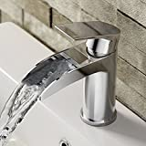 Luxury Waterfall Basin Sink Mixer Tap Modern Chrome Bathroom Lever Faucet