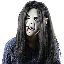 Máscara de látex para Halloween, de terror, de fantasma, para disfraz, cara