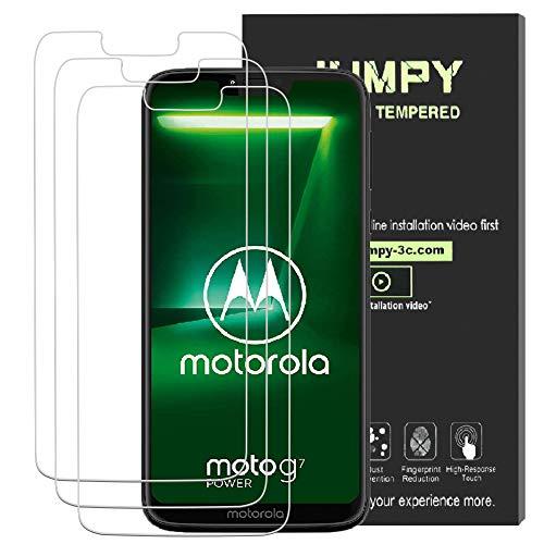Jumpy [3-Pack] Protector de Pantalla Motorola Moto G7 Power, Vidrio  Templado Premium con dureza 9H con garantía de por Vida de reemplazo