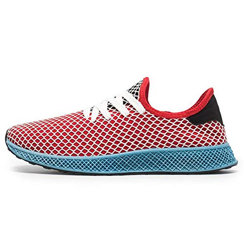 Exing Hommes Chaussures Four Seasons Tendance Sneakers/Athletic Mesh Respirant Wild Trainers Chaussures/Casual Deck Shoes (Couleur : B, Taille : 43)
