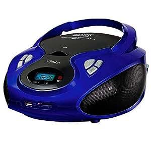 Lauson CD-Player | Tragbares Stereo Radio | Kinder Radio | Stereo Radio | Stereoanlage | USB | CD / MP3 Player | Radio | Kopfhöreranschluss | AUX IN | LCD-Display | Batterie sowie Strombetrieb | CP436 (Blau)