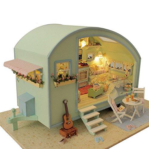 DingLong Die Reise der Musik DIY Miniaturhaus der Haus-LED des Hauses DIY verzieren kreative Geschenke Puppenhaus