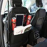 Auto-Seat-Protector + Kick-Matte Auto-Sitz-Rückenprotektor Mit 4 Organizer-Taschen, Stuhl Zurück...