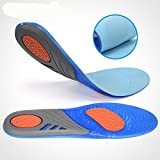 Y1Cheng Silicone Insole Shock Absorbing/Sweating Sports Insole, Supporting Comfortable Foot Massage Gel Pad,S Code (35-43)(4 Pairs)