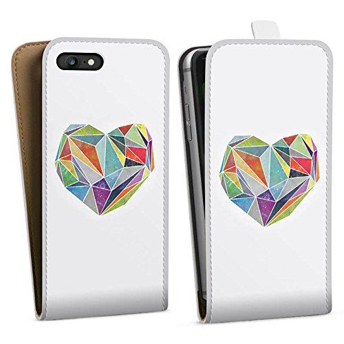 Apple iPhone X Silikon Hülle Case Schutzhülle Love Liebe Herz Downflip Tasche weiß