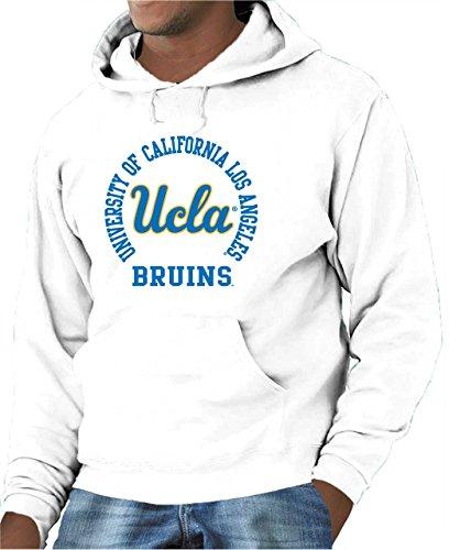 UCLA College Campus Farben Traditioneller Maler Bruins Erwachsene NCAA Team Spirit Kapuzen Sweatshirt, Weiß, Herren, Weiß, X-Large -