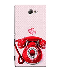 PrintVisa Designer Back Case Cover for Sony Xperia M2 Dual :: Sony Xperia M2 Dual D2302 (Vinatage Phone In Red Design)