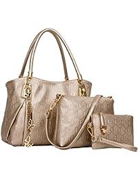 Coofit Damen Leder Handtaschen Set