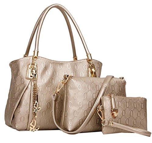 Coofit Le donne annata della borsa del cuoio del sacchetto di spalla del Tote della cartella Hobo Set