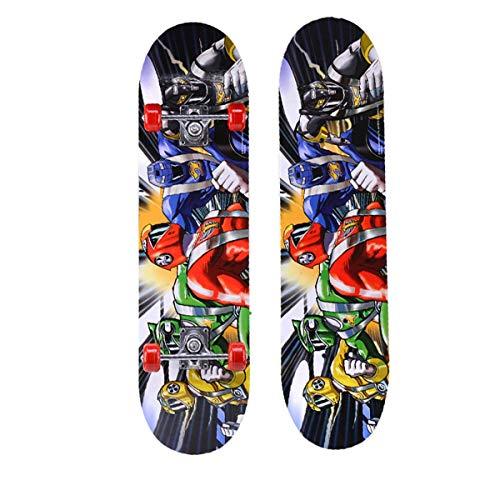 rd Komplett Longboard Double Kick Skateboard Cruiser 8 Lagen Ahorn Deck für Extremsport und Outdoor, 2,72cm ()