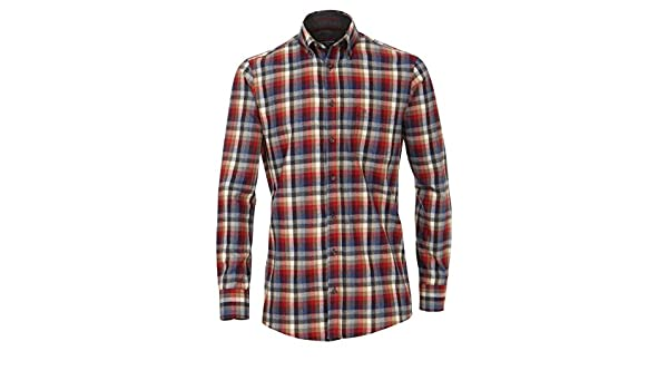33836a33bd6d Casa Moda Flanell Hemd Comfort Fit Sports Edition Karo rot Button-Down,  Größe  XL  Amazon.de  Bekleidung