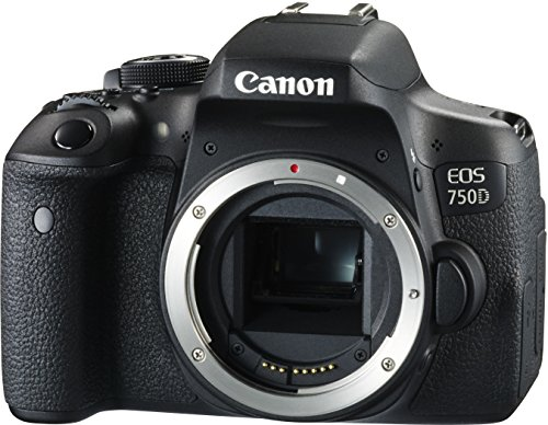 "Canon EOS 750D - Cámara réflex digital de 24.2 MP (Kit con objetivo EF-S 18-55 mm f/3.5-5.6 IS STM, pantalla de 3"", 1080 p, WiFi estabilizador óptico, vídeo Full HD), color negro (importada)"