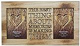 Rustikaler Bilderrahmen aus Holz mit Aufschrift, für zwei 10 x 15 cm große Fotos
