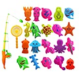#9: Non-Brand 22Pcs Fishing Toy Magnetic Fish Game Fish Model Play Set Preschool Kid Water Bath Toy Gift