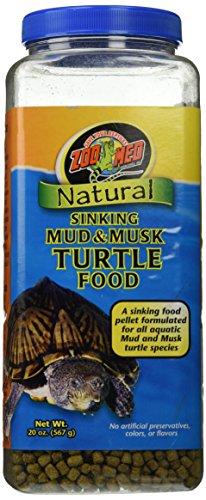 Zoo Med Natural Sinking Mud & Musk Pellet Formulated Aquatic Turtle Food 20oz (Aquatic Natural Turtle Food)