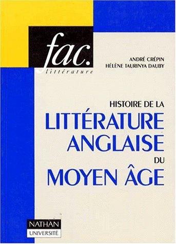 Histoire de la littérature anglaise du Moyen âge