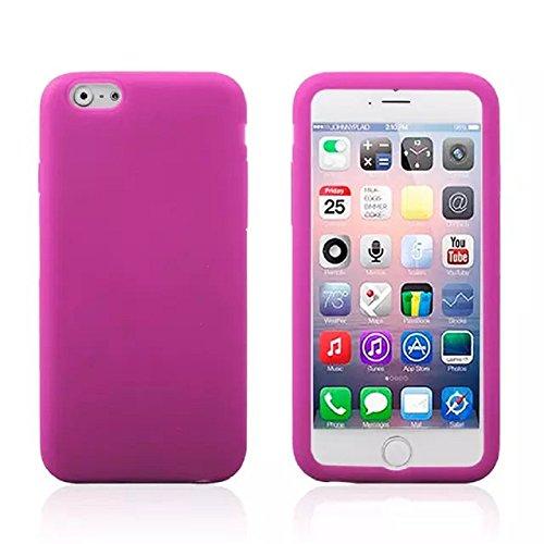 Great Deals on Click Sales, Coque Caoutchouc Gel Silicone Doux pour iPhone 6 + Stylet (Violet) Rose