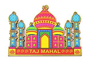 Skywalk India Souvenir Wooden Fridge Magnet Taj Mahal